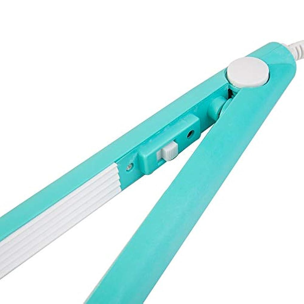 無許可アラームサロンミニストレートヘアアイロン鉄ピンクセラミック矯正段ボールヘアスタイリングツールカーリングアイロン q30k1j (Color : Blue)