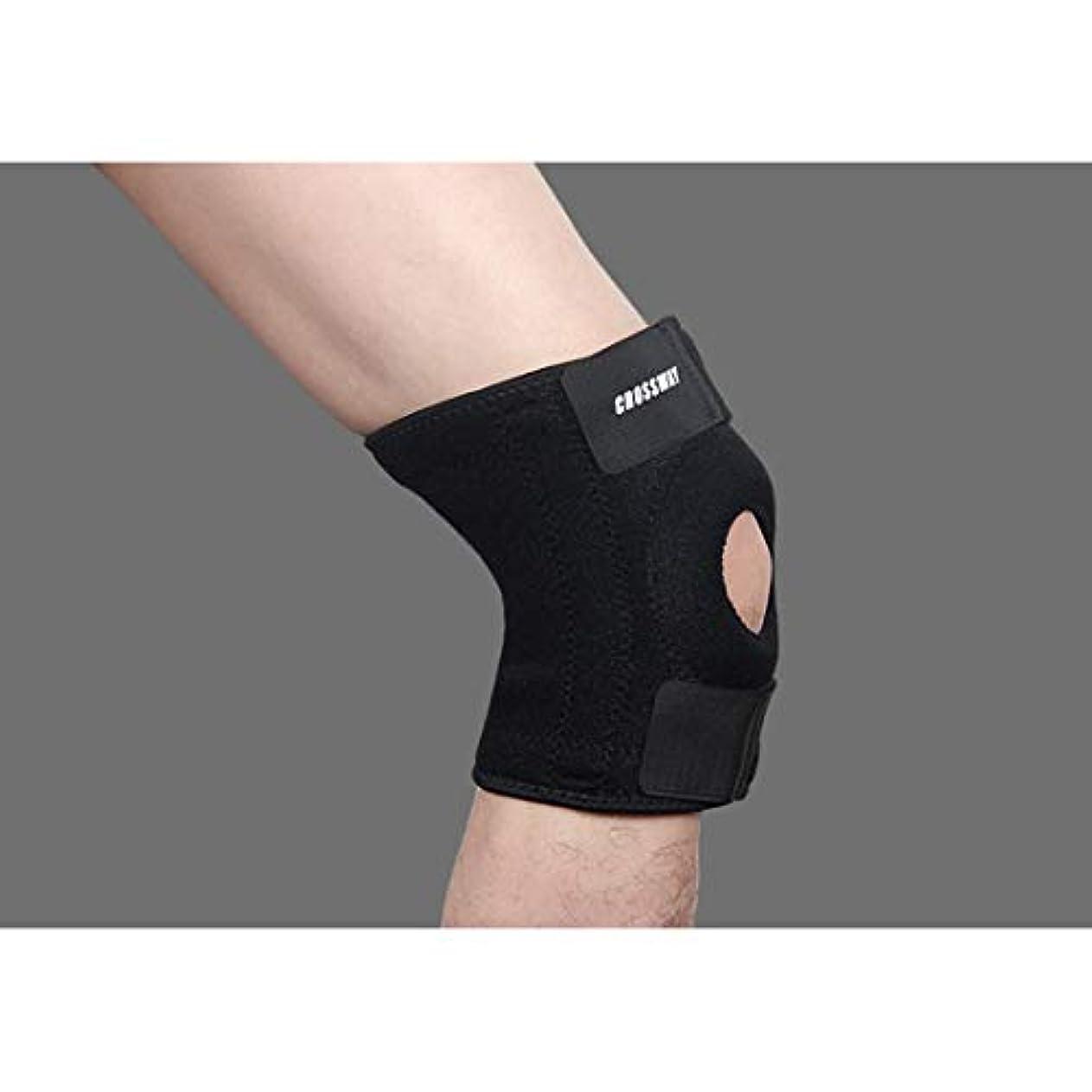 厚いエッセンスヒューバートハドソンCAFUTY ユニセックス膝パッド バスケットボールバドミントン乗馬ハイキングランニングギア (Color : ブラック, Edition : Left leg)