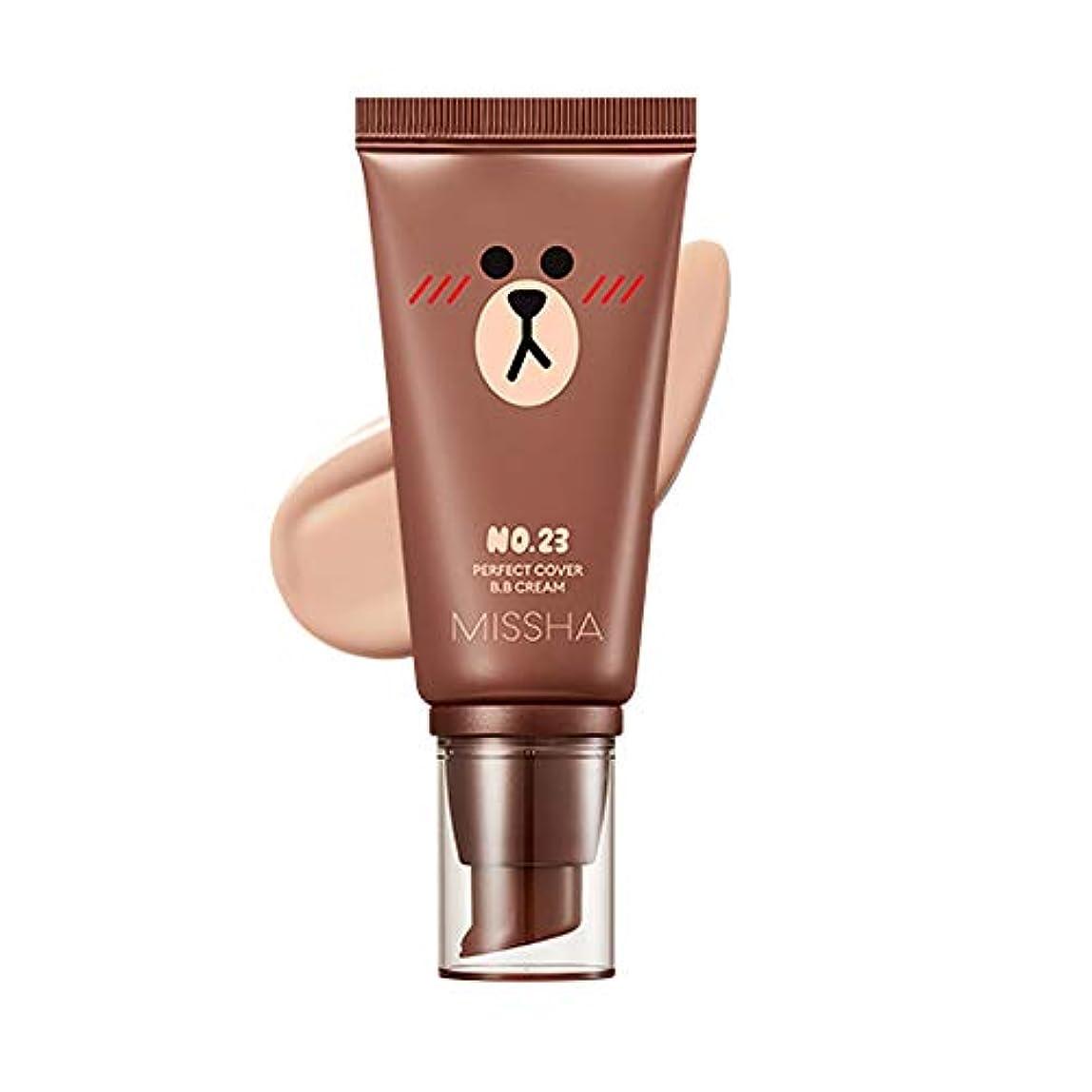 嫌がらせグリップ花Missha M Perfect Cover BB Cream SPF42 PA+++ [Line Friends Edition] ミシャ(ラインフレンズ)MパーフェクトカバーB.Bクリーム (#23 Natural...
