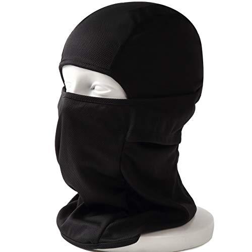 DELTA FIELDS フェイスマスク サバゲーマスク バラクラバ マスク メッシュ サバイバルゲーム タクティカルマスク 目だし帽 3way マルチ フルフェイス ハーフマスク 速乾 吸水 蒸れない 伸縮 万能 (黒)