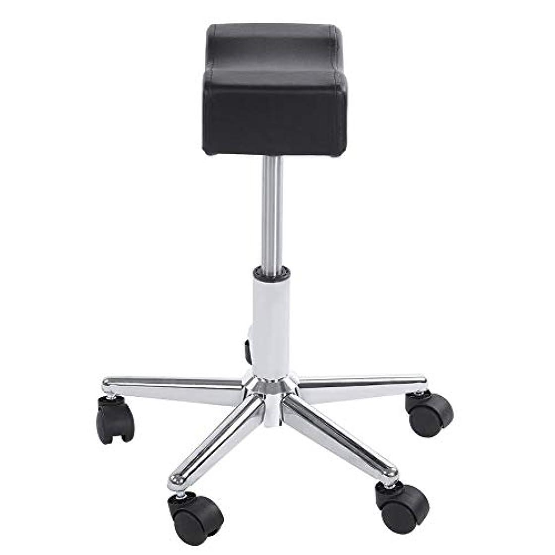 調節可能な椅子、高さ調節可能なローリングチェアホーム用可動ホイール付きの快適なシートクッションスツール