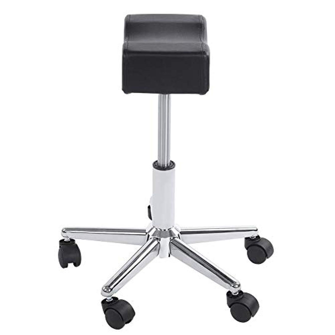超音速ドラマ通路調節可能な椅子、高さ調節可能なローリングチェアホーム用可動ホイール付きの快適なシートクッションスツール