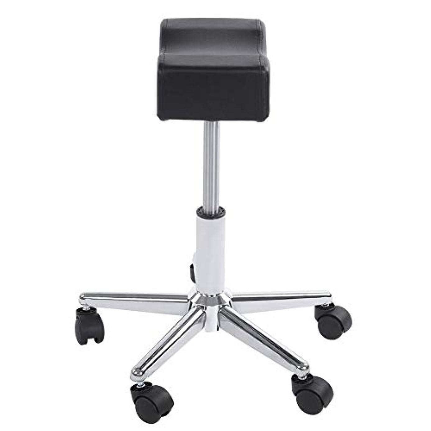 銀行肝土調節可能な椅子、高さ調節可能なローリングチェアホーム用可動ホイール付きの快適なシートクッションスツール