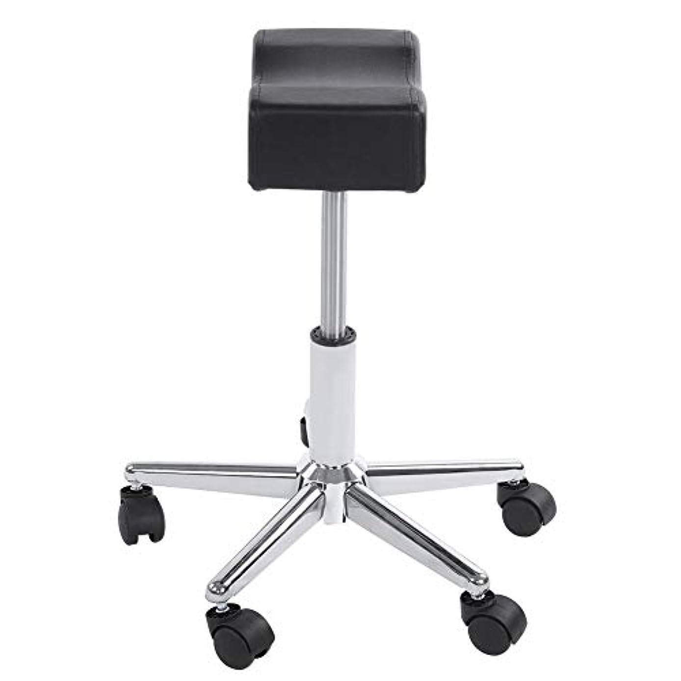 手配する年金クラッシュ調節可能な椅子、高さ調節可能なローリングチェアホーム用可動ホイール付きの快適なシートクッションスツール