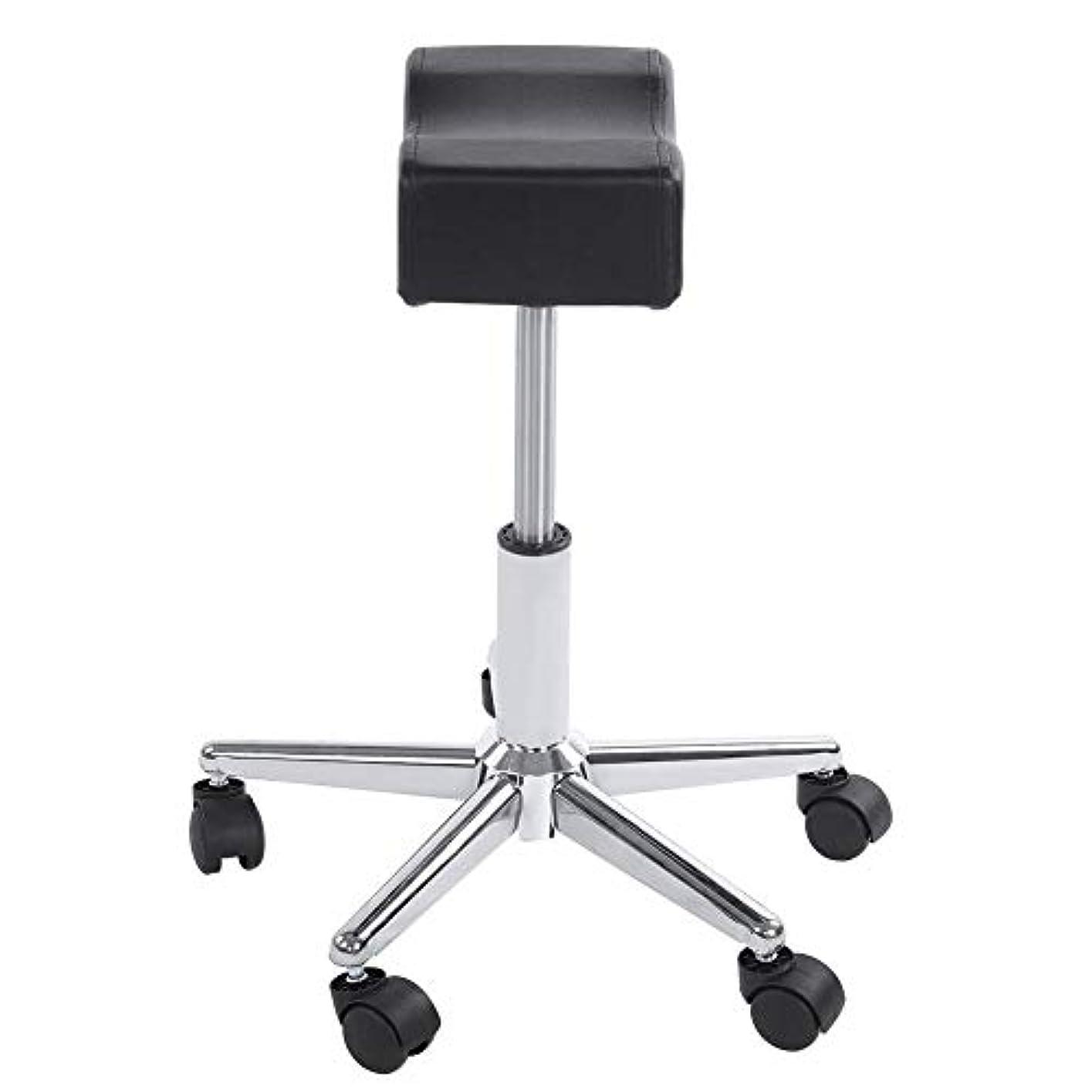 誤カプラーファイナンス調節可能な椅子、高さ調節可能なローリングチェアホーム用可動ホイール付きの快適なシートクッションスツール