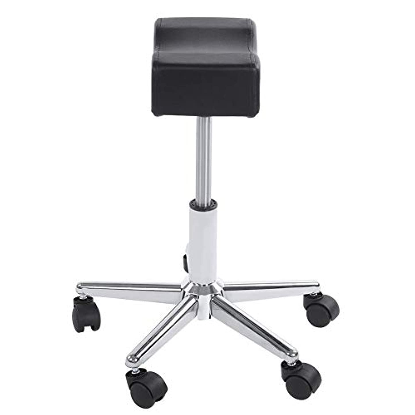 完了見る人睡眠調節可能な椅子、高さ調節可能なローリングチェアホーム用可動ホイール付きの快適なシートクッションスツール