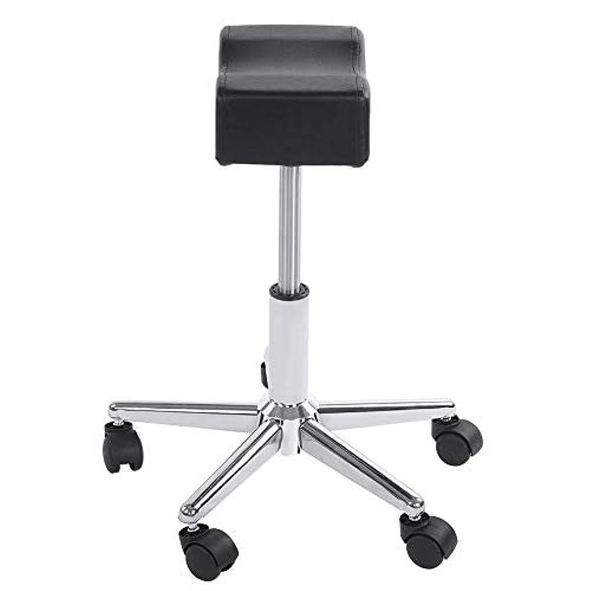 カーテングラディス印象的な調節可能な椅子、高さ調節可能なローリングチェアホーム用可動ホイール付きの快適なシートクッションスツール