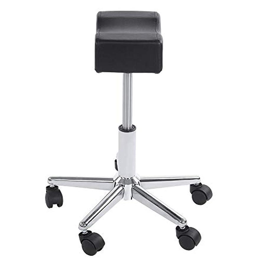 ドリンク足枷浸透する調節可能な椅子、高さ調節可能なローリングチェアホーム用可動ホイール付きの快適なシートクッションスツール
