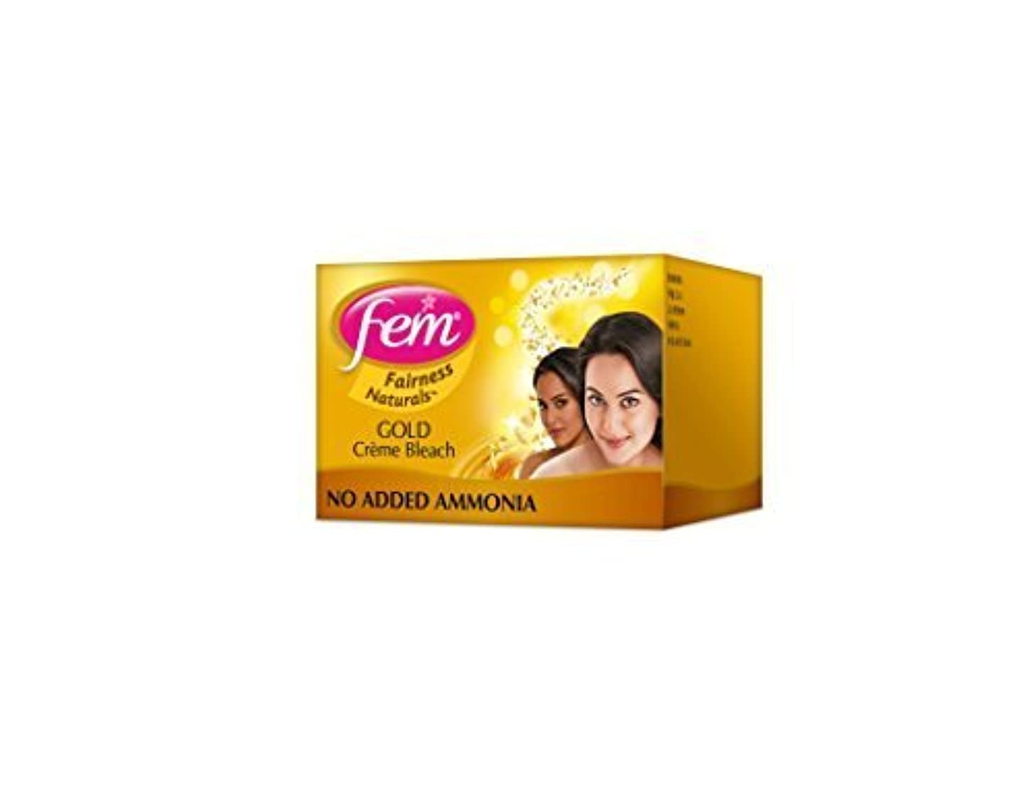ショップ納屋薬を飲む2 FEM Herbal Gold Cream Bleach Wt Real Gold Golden Glow Natural Fairness 26g X 2 by Fem
