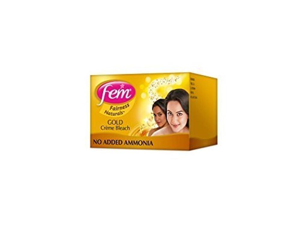 ささいな有効化降下2 FEM Herbal Gold Cream Bleach Wt Real Gold Golden Glow Natural Fairness 26g X 2 by Fem