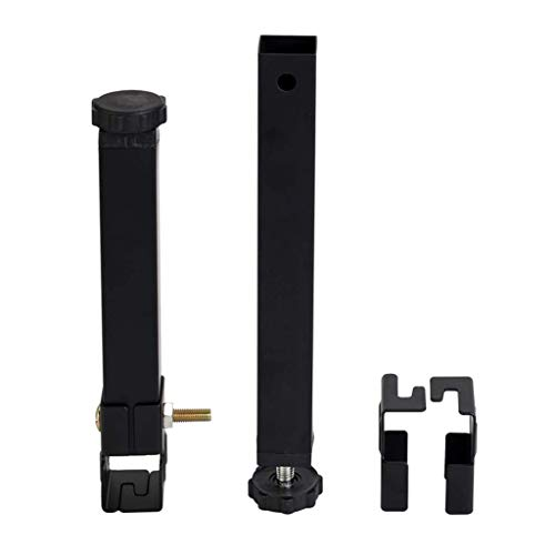 Accessories Support Leg × 4, Black Free-Leg Bed Leg clamp Foot Bed Reinforcement Support Column Fittings Adjustable