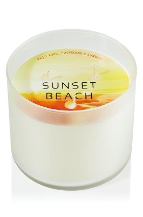 熱心な軽食心配するバスボディサンセットビーチScented Candle 14.5 Oz (フルーツPops、Sugarcane、&含有