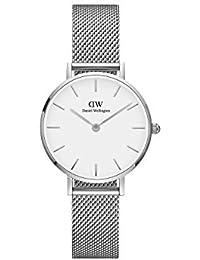 [ダニエルウェリントン]DANIEL WELLINGTON 腕時計 レディース クラッシック ペティット スターリング ホワイト シルバー 28mm DW00100220 [正規輸入品]