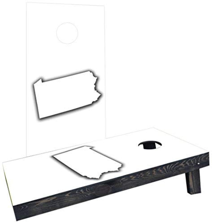 Custom Cornhole Boards Incorporated CCB731-AW-RH White Pennsylvania Theme Cornhole Boards [並行輸入品]