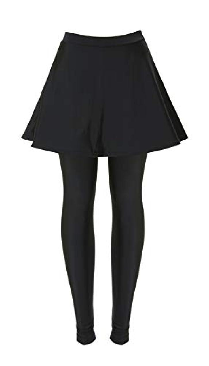 グローバル?ジャパン スカート付き 細魅せ 水着 レギンス ブラック L~LL