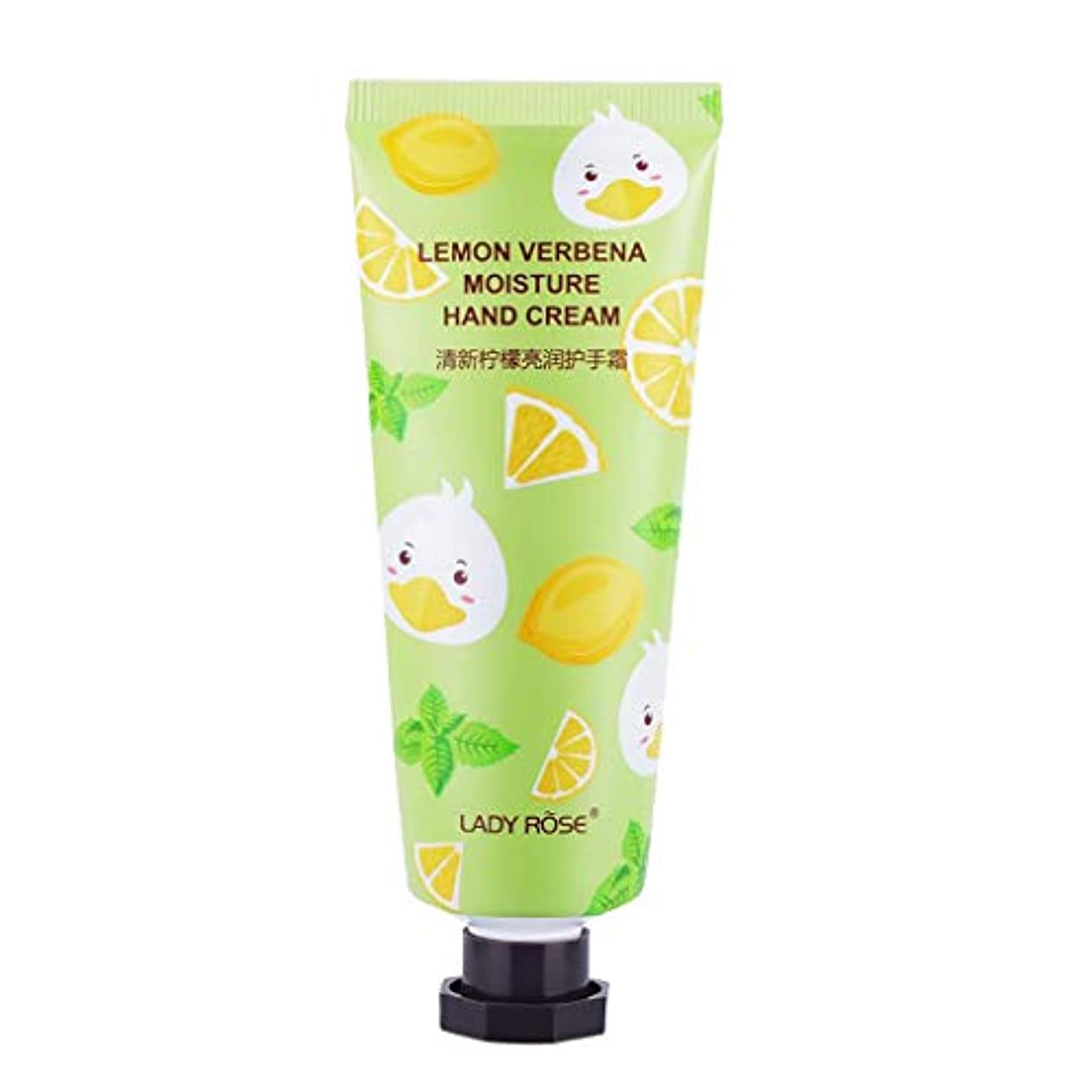 天窓まっすぐにする文芸F Fityle ハンドクリーム 乾燥対策 潤い スキンケア 可愛い 香り 保湿クリーム ローション 3タイプ選べ - レモン