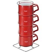 DANSK コベンスタイル コーヒーカップ 4pcs チリレッド 848423