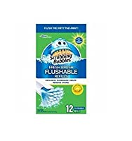 Scrubbing Bubbles Fresh Brush Toilet Cleaner Flushable Refill-12 ct. (Pack of 3) by Scrubbing Bubbles