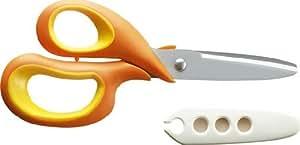 コクヨ 学習はさみ左手用 まなびすと キャップ付 フッ素コート加工 オレンジ GY-GDB101YR
