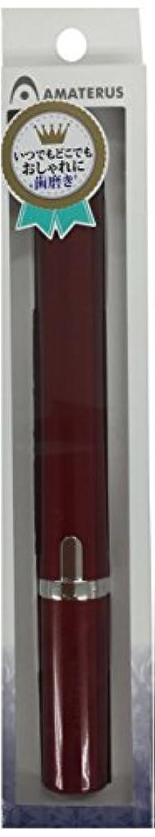 朝食を食べる眉付添人アマテラス 携帯型音波振動歯ブラシ Primo(プリモ)K13 ワインレッド 1本