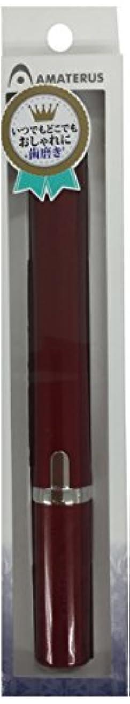 そうでなければ内陸不一致アマテラス 携帯型音波振動歯ブラシ Primo(プリモ)K13 ワインレッド 1本