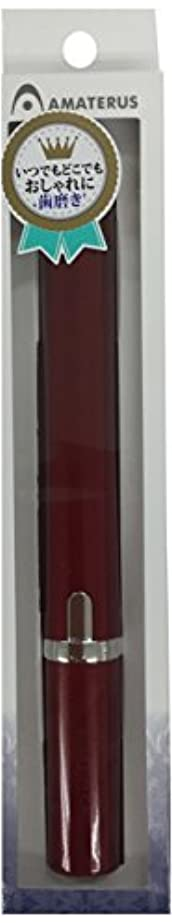 スチール厳密に数学者アマテラス 携帯型音波振動歯ブラシ Primo(プリモ)K13 ワインレッド 1本
