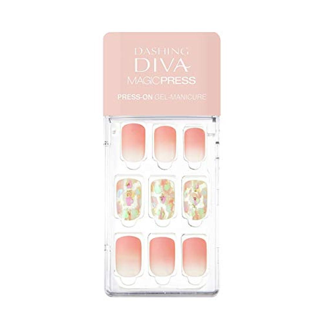ダッシングディバ マジックプレス DASHING DIVA MagicPress MDR_282-DURY+ オリジナルジェル ネイルチップ Rosy Glow