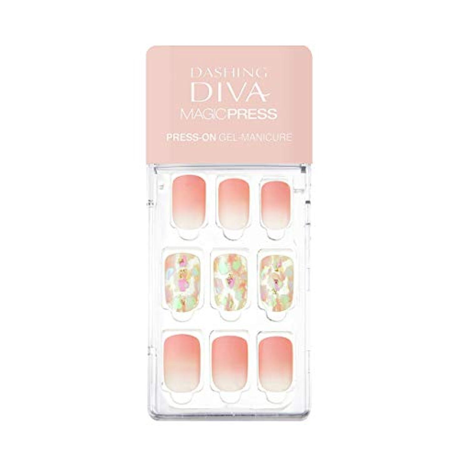 花婿チェス腹部ダッシングディバ マジックプレス DASHING DIVA MagicPress MDR_282-DURY+ オリジナルジェル ネイルチップ Rosy Glow