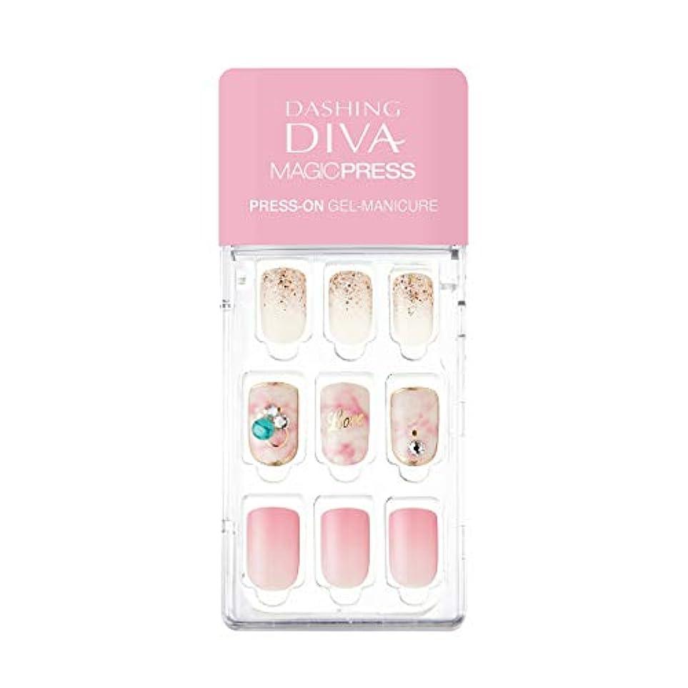 道暴露もろいダッシングディバ マジックプレス DASHING DIVA MagicPress MDR_278-DURY+ オリジナルジェル ネイルチップ Chiffon Dress