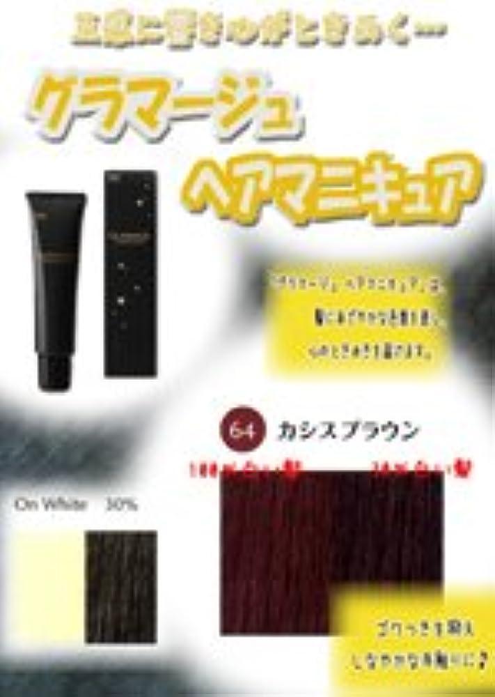 HOYU ホーユー グラマージュ ヘアマニキュア 64カシスブラウン 150g 【ブラウン系】