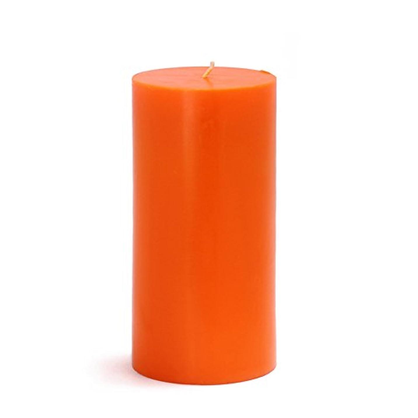 南方の軽く援助するZest Candle CPZ-086-12 3 x 6 in. Orange Pillar Candles-12pcs-Case - Bulk
