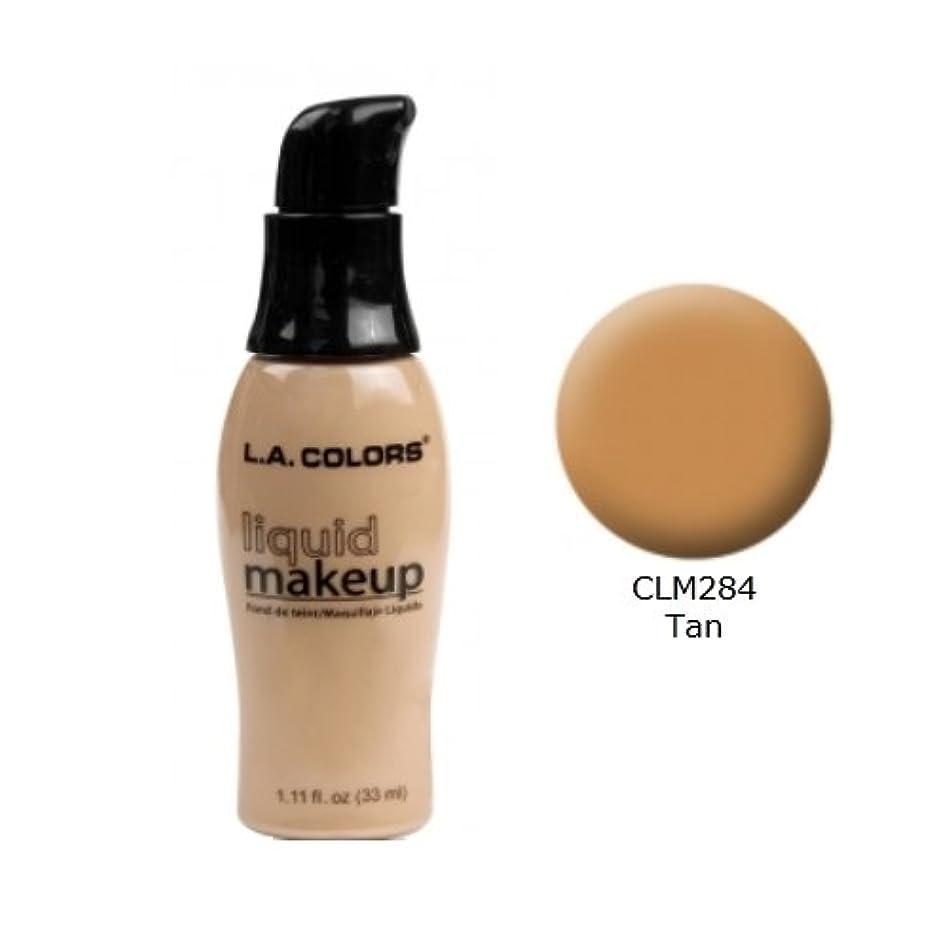 ダウンタウン吸い込むきらめく(6 Pack) LA COLORS Liquid Makeup - Tan (並行輸入品)