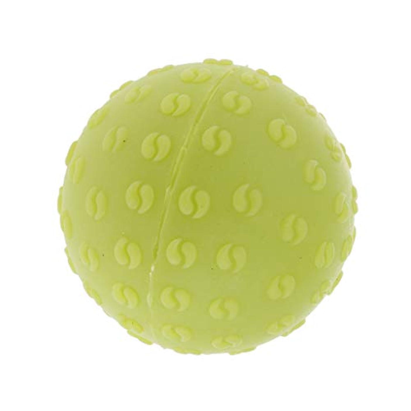 従者有能な異常な全6色 マッサージボール 指圧ボール シリコーン トリガーポイント 足底筋膜炎 ヨガ 耐油性 快適 - 緑, 説明のとおり