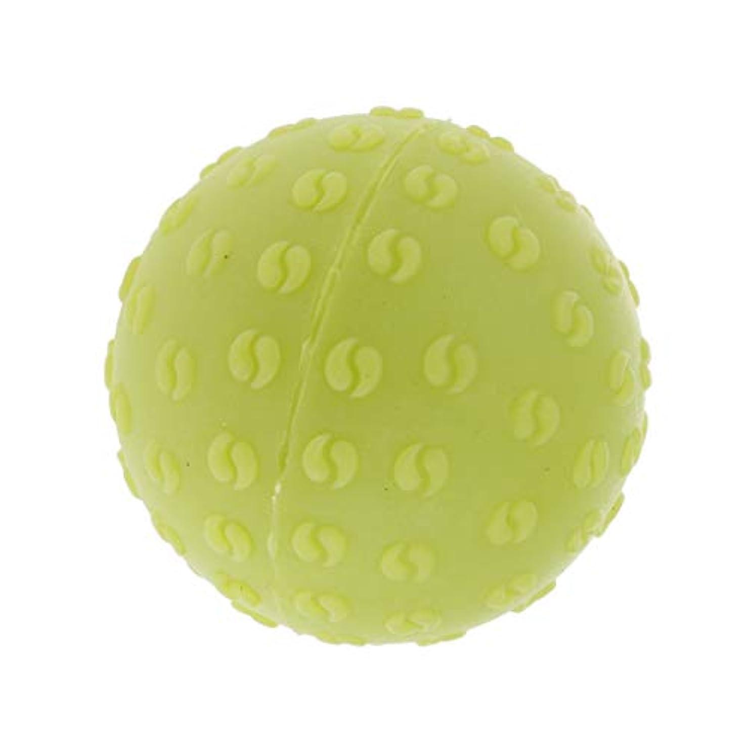 意識振り向く砂漠全6色 マッサージボール 指圧ボール シリコーン トリガーポイント 足底筋膜炎 ヨガ 耐油性 快適 - 緑, 説明のとおり