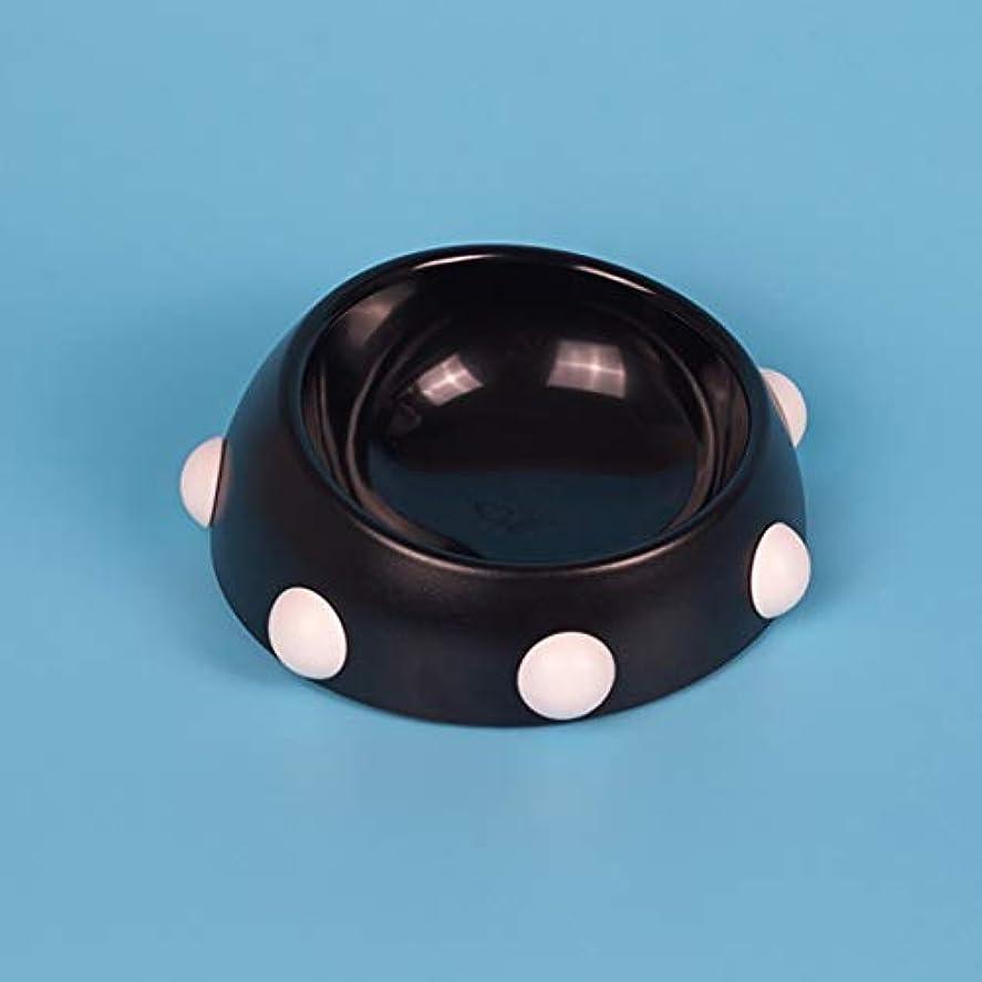方朝日スポーツ用品店 斜めのリベット犬のボウルプラスチックの反秋のペットボウル猫と犬の飲み物のボウル滑り止めの食品ボウル (色 : Small willow Nail bowl black+powder)