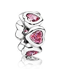 PANDORA Spacers Charms Pink Shining Heart Space Charm