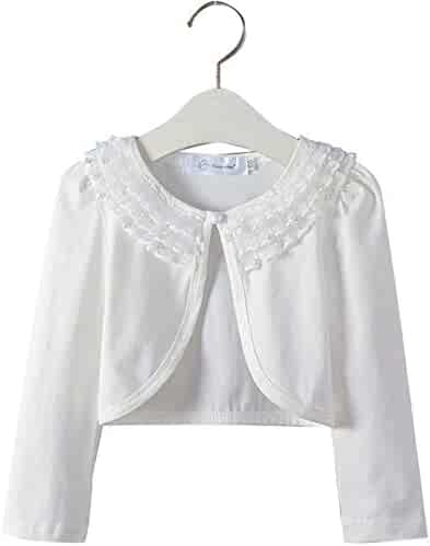 ae8057f0ac54a  Beatok  Kids Bolero Long Sleeve Formal Clean Lace Girls Kids Clothes  110~160