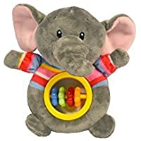 Baberoo Soft Stuffed Animal Toy Abacus Rattle for Babies Elephant 5 Inches [並行輸入品]