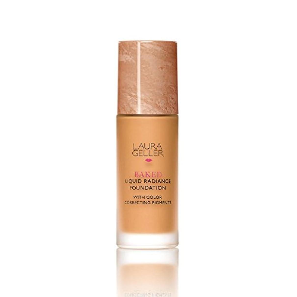 キッチン皮見通しローラ?ゲラーニューヨーク焼いた液体放射輝度基盤日焼け x4 - Laura Geller New York Baked Liquid Radiance Foundation Tan (Pack of 4) [並行輸入品]