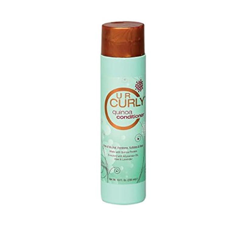 試みる腐食する寝室を掃除するU R Curly キヌアコンディショナー、10オンス