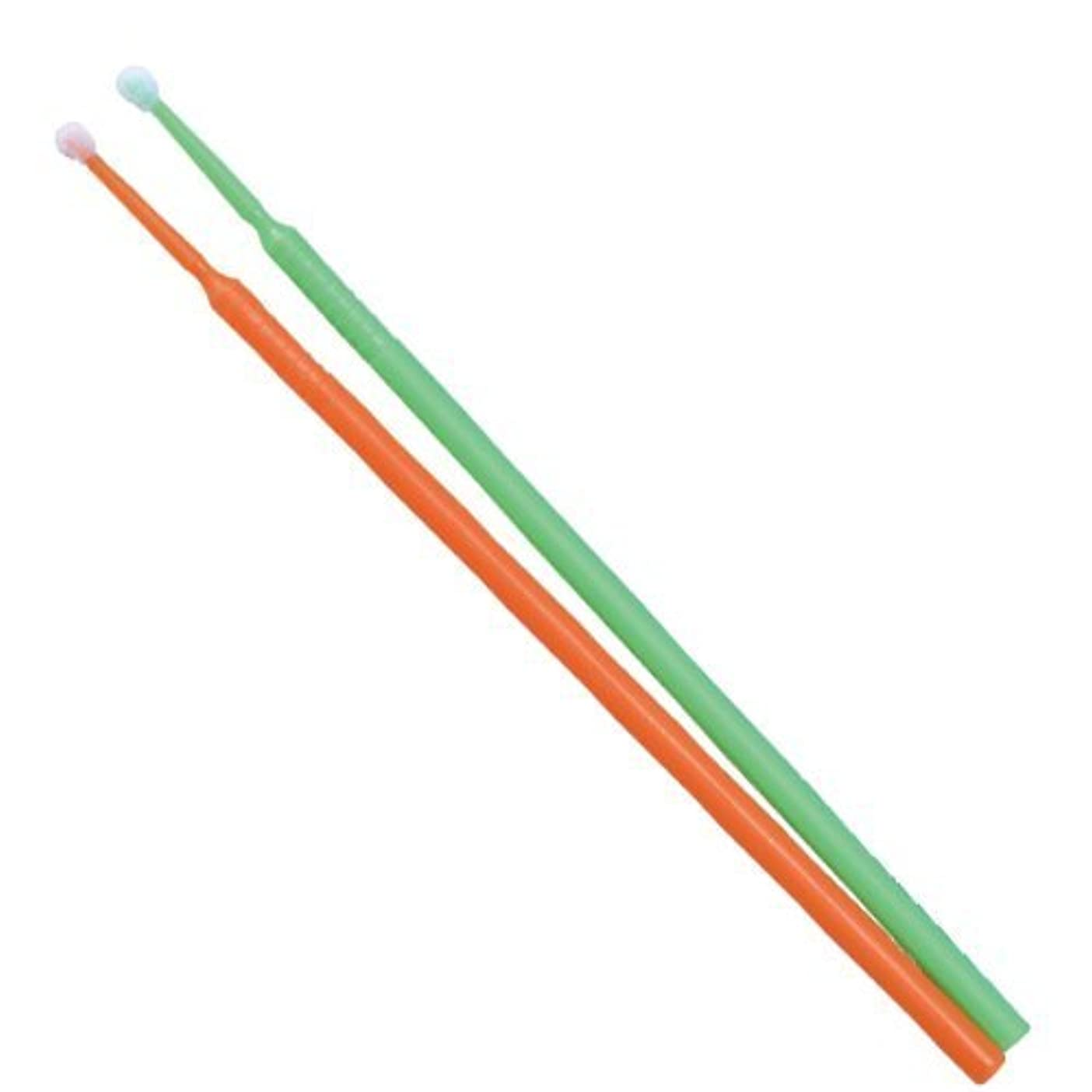 マナー素朴な屈辱するTPCアプリケーターブラシ(マイクロブラシ)レギュラーφ2.0mm 100本入り(カラー:グリーンorオレンジ)