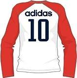 160 アディダス adidas YB TCOS FB CLIMA LITE COTTON L/S Tシャツ1 AJP-AJ919 (G79326)ホワイト ジュニア ○