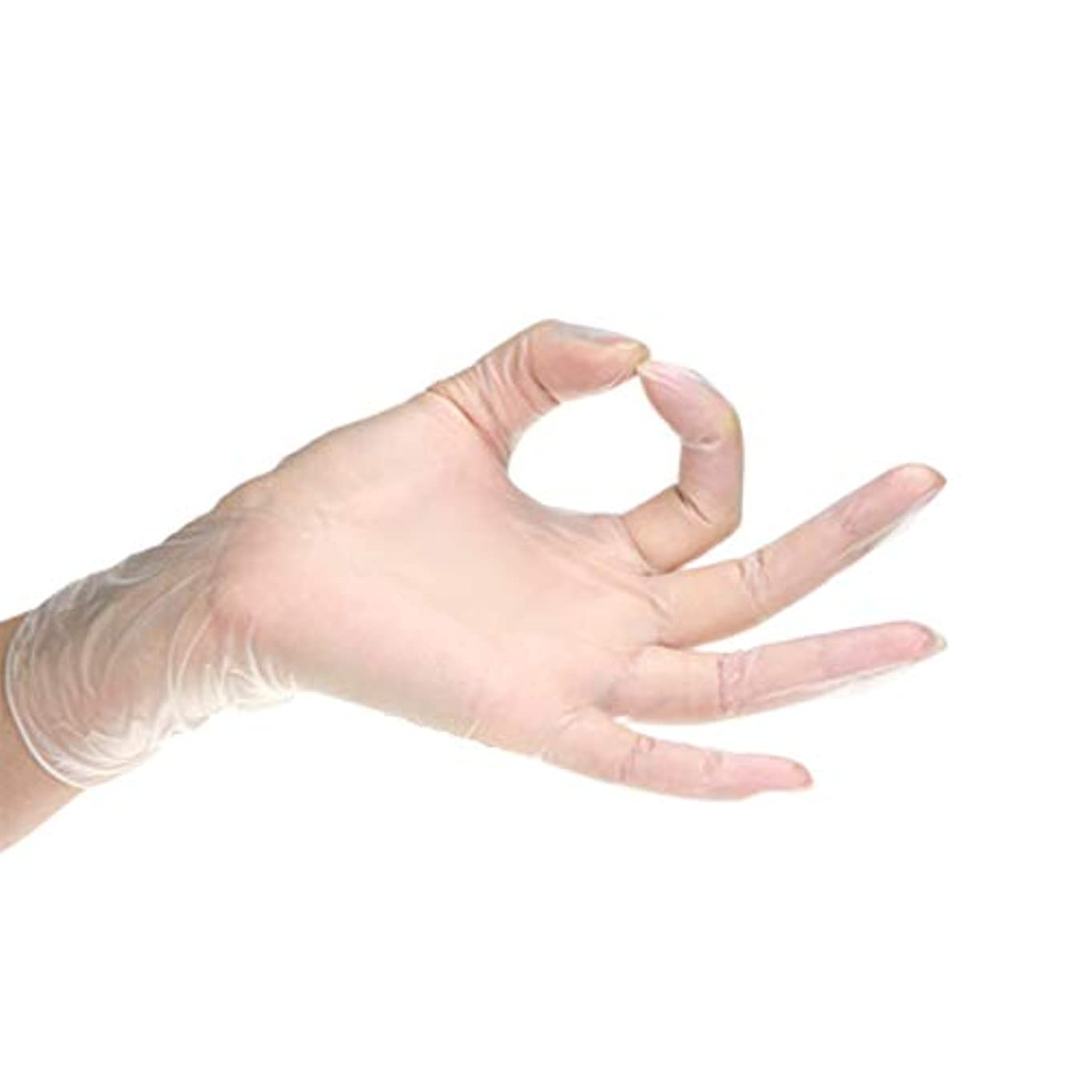 骨銀行珍しい使い捨て手袋 ニトリル手袋 はエビをむいて 野菜 顔を切っ て料理の 食品を加工して粉がなく 透明 100枚 (L)