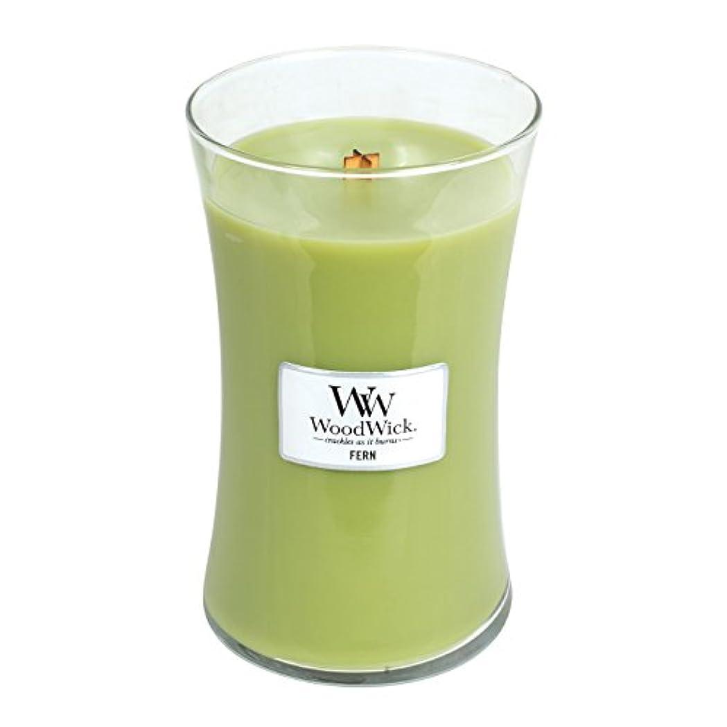 記念碑同行貸すWoodwick Fern, Highly Scented Candle、クラシック砂時計Jar, Large 7-inch、21.5 Oz