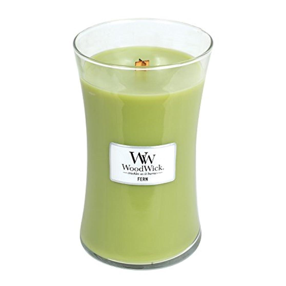 納税者異議座標Woodwick Fern, Highly Scented Candle、クラシック砂時計Jar, Large 7-inch、21.5 Oz