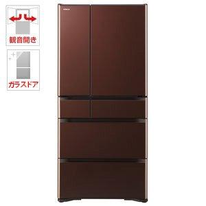 日立 670L 6ドア冷蔵庫(クリスタルブラウン)HITACHI R-XG6700H-XT