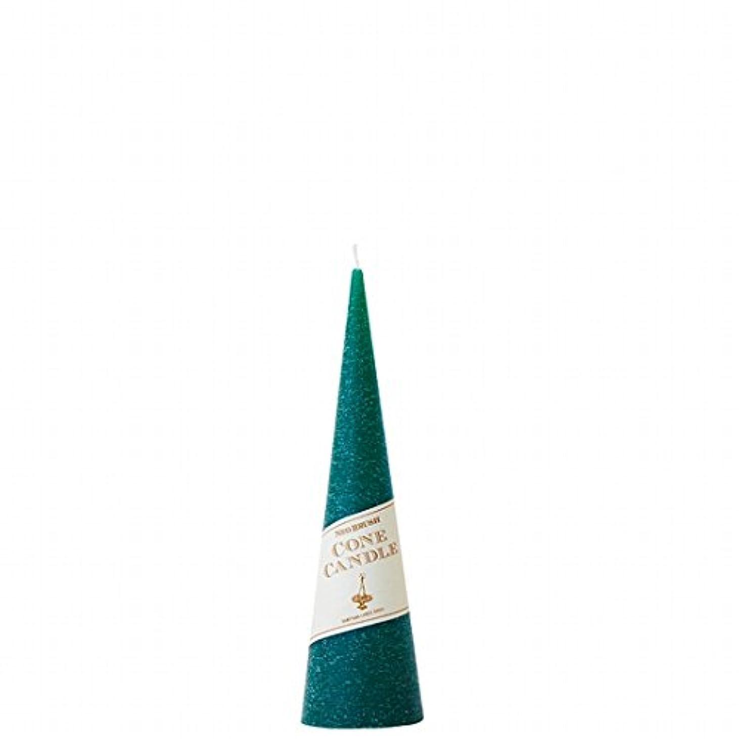 器用話塩カメヤマキャンドル(kameyama candle) ネオブラッシュコーン 180 キャンドル 「 グリーン 」