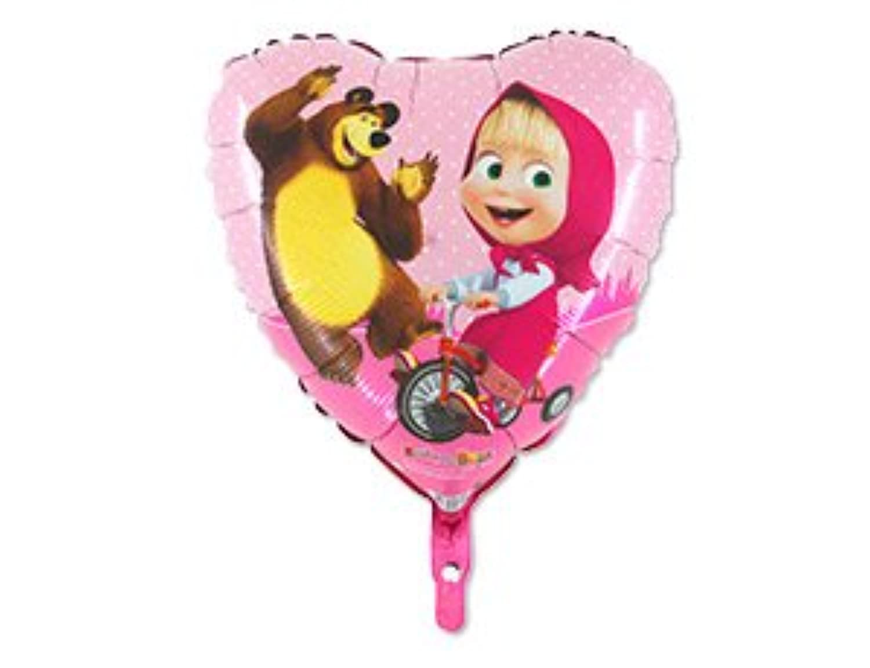 1 PSCメタルインフレータブルバルーンMasha and Bear For A Holiday Children 'sキッズパーティーパーティーFavorパーティーSupplies招待Deco Russian Cartoon