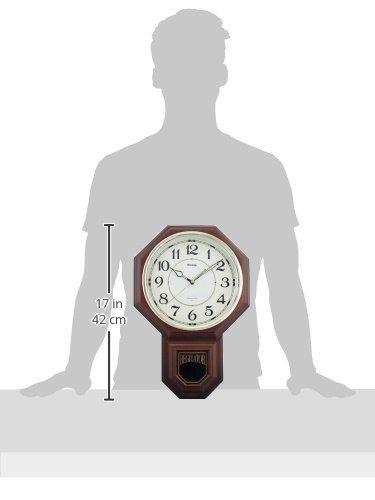 MAG (マグ) 掛時計 洋鳴館(ようめいかん) ウォールクロック 振子時計 W-514 BR ブラウン