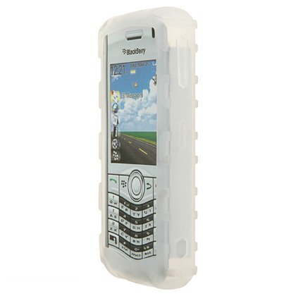 Research In Motion RIM BlackBerry Pearl 8130 Premium Bumper Grip Clear Silicone Skin Case Cover [並行輸入品]